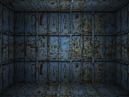 Interior scene of grungy and scratched metal room Stock Photo - 6356085
