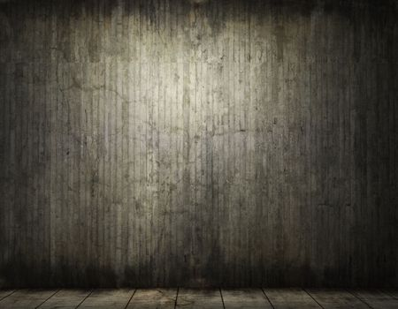 penumbra: grunge background of an interior concrete room with copy space