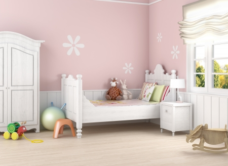 chambre � � coucher: Girl?s chambre 2 (0) .jpg Banque d'images