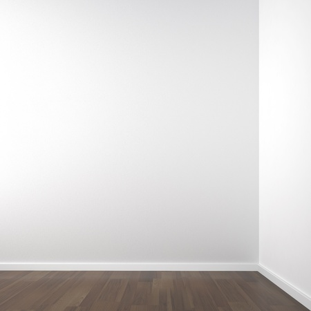 empty white corner room for placment of your product or model all copy space Stock Photo