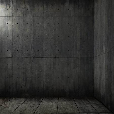 grunge background of an interior concrete room corner photo