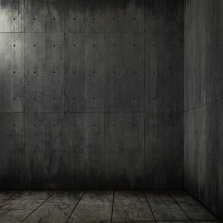 grunge background of an interior concrete room corner