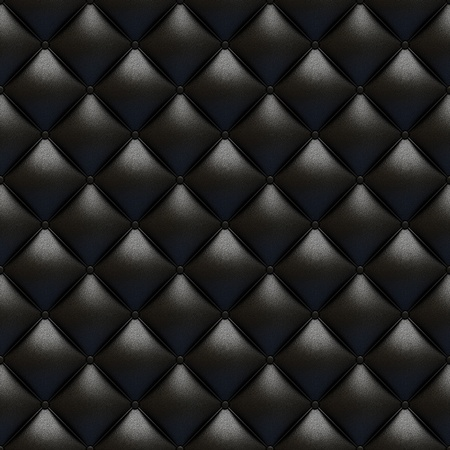 Black leather upholstery texture totally seamless and tileable with great detail for background, check my port for similars Stock Photo