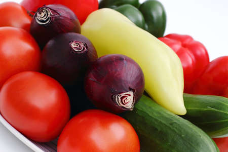 Tomatoes and vegetables Stock Photo
