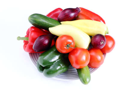 Vegetables on plate