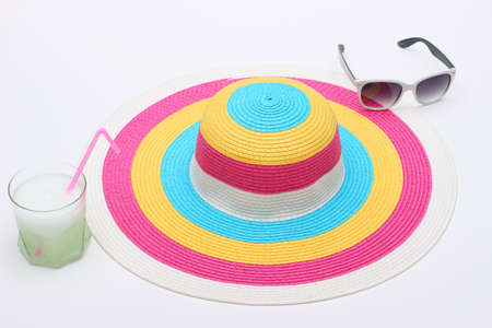 Colorful hat and sunglasses