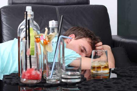 Alcoholik deprimido Foto de archivo