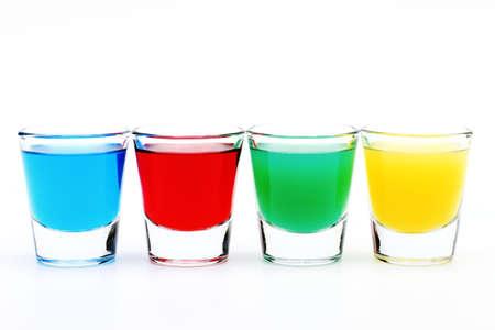 Cuatro vidrios de colores Foto de archivo