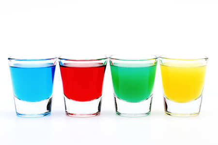 Four colored glasses