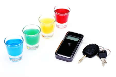 sobriety test: breath-testing device