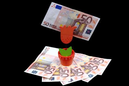 Fifty euro 9  Stock Photo