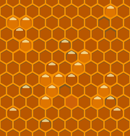hives: Bee hives with honey cell seamless wallpaper