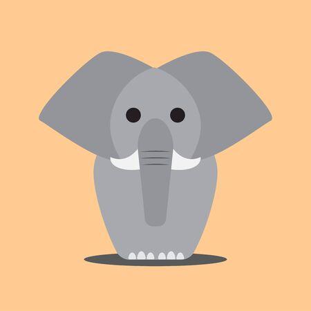 adult male: Cute cartoon adult male elephant
