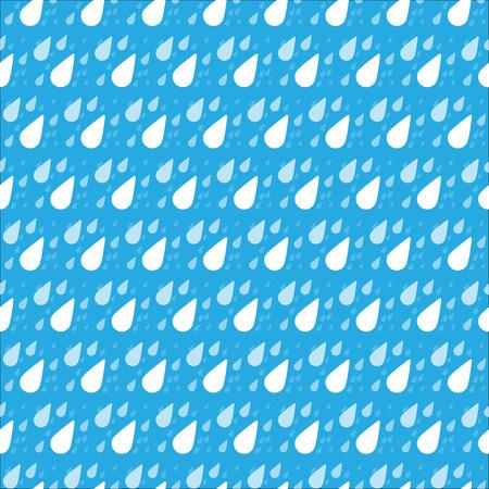 rain drop: Seamless rain drop pattern on the blue background