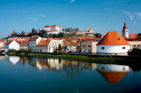 drava: Ptuj Castle is a castle in Ptuj, Slovenia. It is situated on a hill alongside the river Drava overlooking the town, and is a prominent landmark. The castle was built in the mid-12th century, when it was constructed to defend against the Hungarians