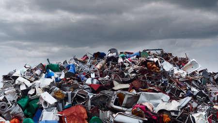 landfills: Photo of huge mound various waste landfills Stock Photo