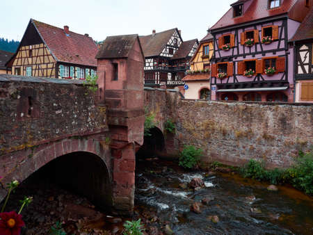 alsace: Kaysersberg small charming town in Alsace France Stock Photo