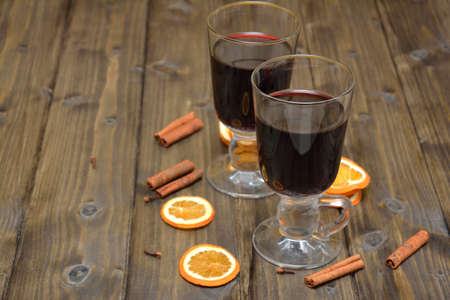 mulled wine: Mulled wine for Christmas Stock Photo