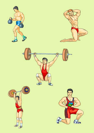 Sportsman, weight lifter , body-builder, weight-lifter Stock Vector - 17163886