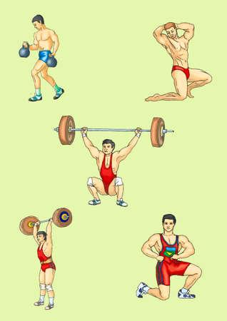 weight lifter: Sportsman, weight lifter , body-builder, weight-lifter