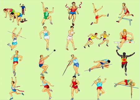 ядра: Sportsmeny-спортсменов, марафон, в перспективе, прыжками, метанием ядра