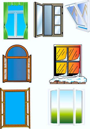 Window, different construction Stock Vector - 17164124