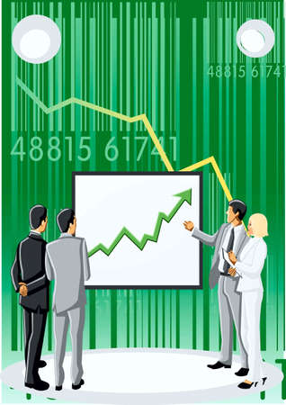 Presentation of plan, background, chart,  people Stock Vector - 17164138