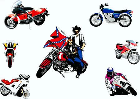 cycles: S�lection des motocycles, motocyclistes de course, RoKeRs