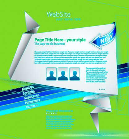 WebSITE in style of origami Stock Vector - 17164172