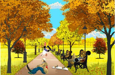 skateboard park: Los ni�os van a dar una vuelta en un monopat�n en un parque