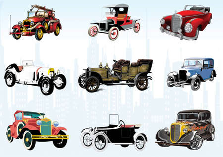 Selection of age-old cars