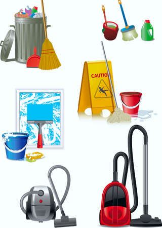 Facilities of cleaning up of apartments