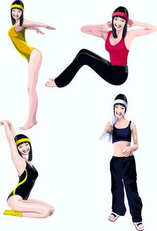 Girl, occupying a gymnastics