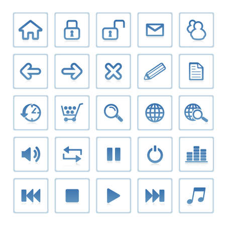 Web icons : website and internet Stock Photo