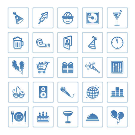 Web icons : party and celebration