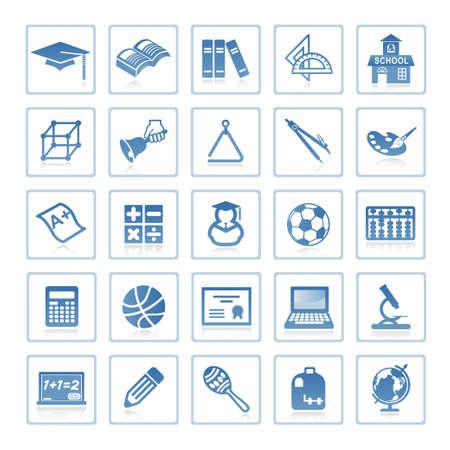 Web de iconos: educación Foto de archivo - 6399099