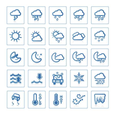 Web icons : Weather 写真素材