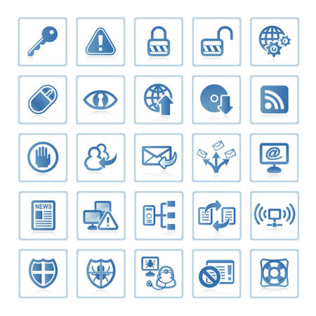 Web icons : Internet and Security Stock Photo - 6399097