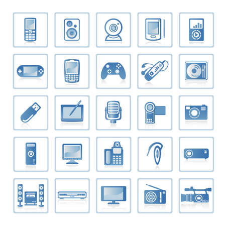 Web icons : Electronics and Technology Stock Photo