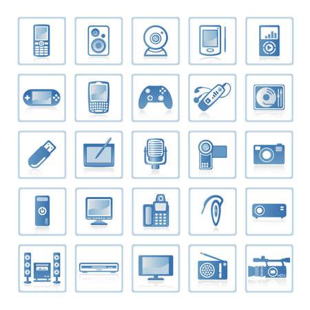 Web Icons: Elektronik und Technik  Lizenzfreie Bilder