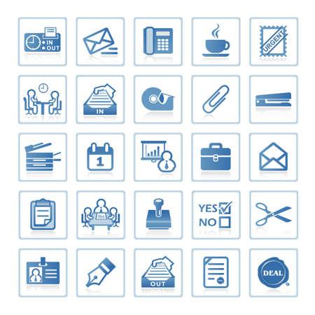 Web de iconos: negocio y Oficina  Foto de archivo - 6399096