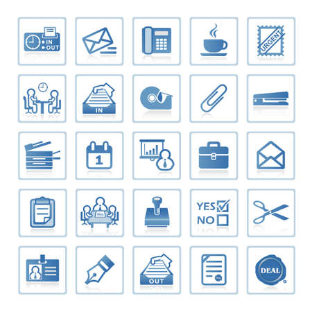 Web Icons: Business und Office