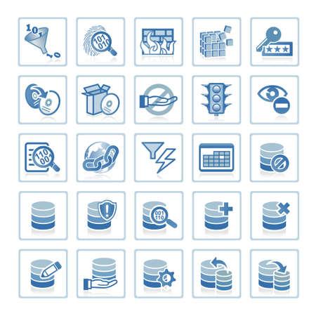 Web icons : Internet Security and Database Management Stock Photo - 6399098