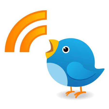 anunciar: Anunciar de aves de Twitter