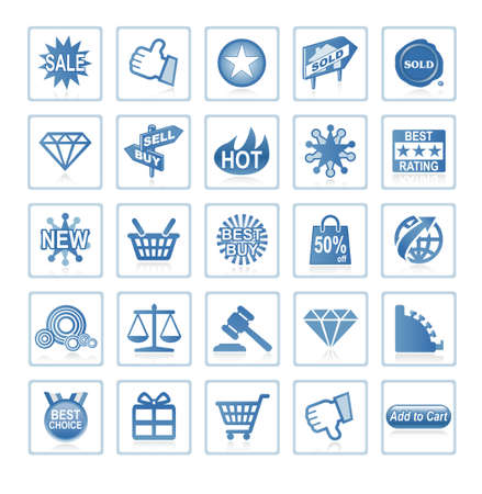 Web icons : online shopping