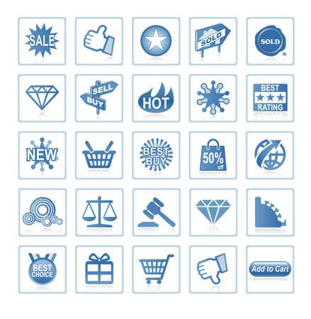 Web-Symbole: online-shopping