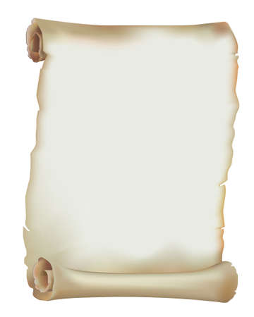 Old Paper Scroll 写真素材