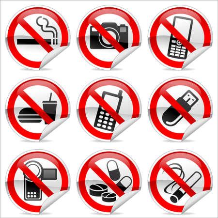 prohibido: Se�ales de prohibici�n de tienda