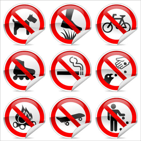 Park Prohibited signs Stock Photo