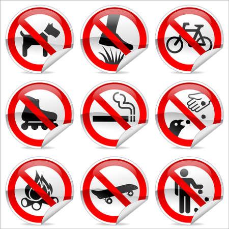 botar basura: Signos de Parque prohibidos  Foto de archivo